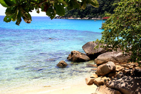 Beach on Perhentian Island, Malaysia Stock Photo