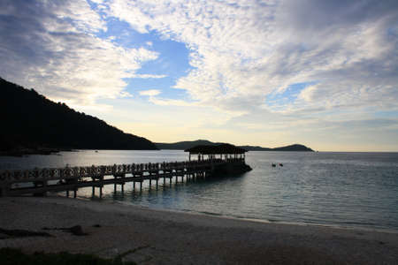 sunset at perhentian island, malaysia Stock Photo - 9703288