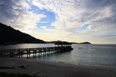 sunset at perhentian island, malaysia Stock Photo - 9703288