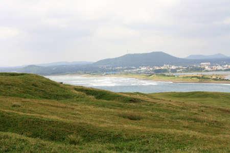 Jeju island view from Seongsan sunrise peak