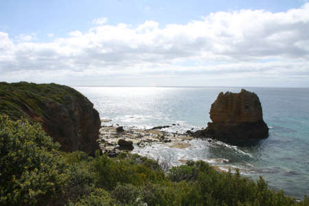 Eagle Rock at Split Point Lighthouse located at Aireys Inlet photo
