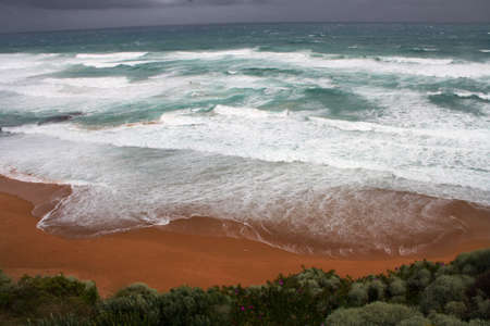 Storm approaching at the Twelve Apostles, Port Campbell Australia Stock Photo