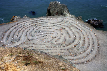 Labyrinth at Lands End, San Francisco Stock Photo