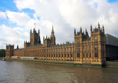 Houses of Parliament, London UK, by River Thames