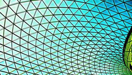 glass ceiling: Glass ceiling architecture Stock Photo
