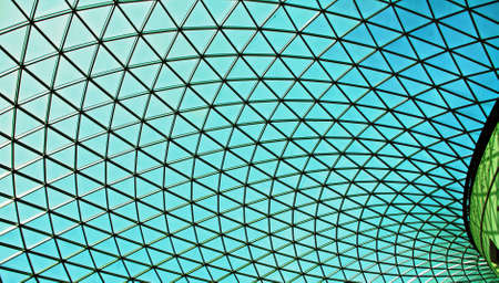 Glass ceiling architecture Stock Photo