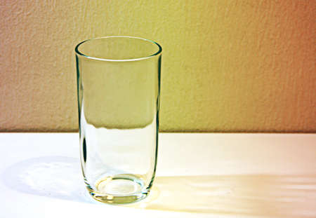 Empty Glass Grunge Concept