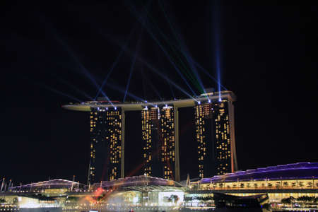 Marina Bay Sands Hotel view at night