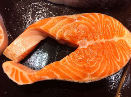 Norwegian raw salmon fish