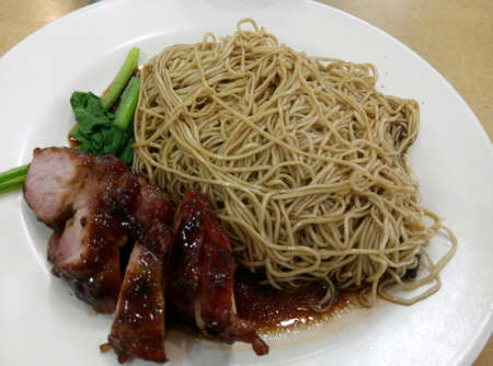 Savory plate of wantan noodles
