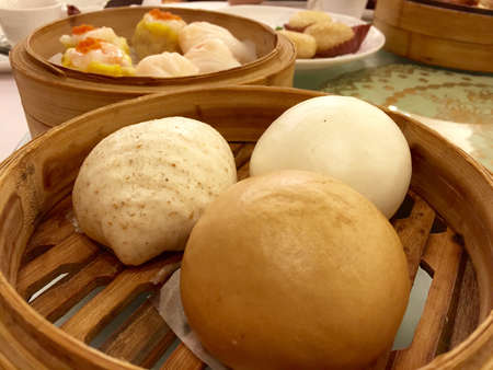 bao: Dimsum - steamed stuffed buns, bao