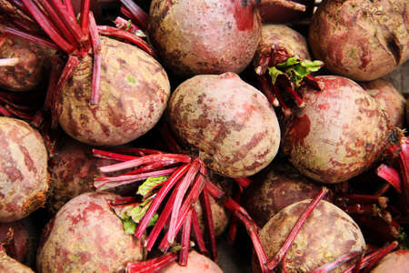 Beetroot for sale in the market Stock Photo
