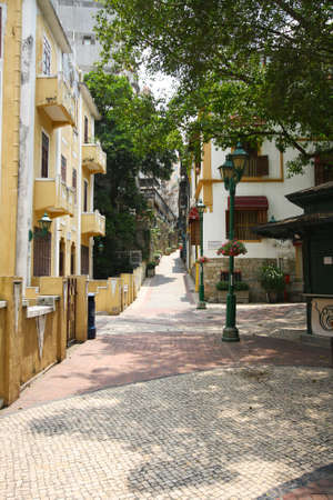 Street view of Largo Do Lilau, Macau