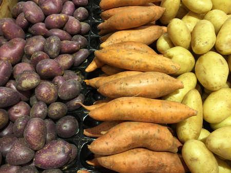 Varieties of multicolored potatoes