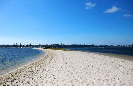 Sand bar at Point Walter, Perth, Western Australia