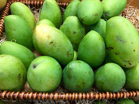 Basket of fresh mangoes
