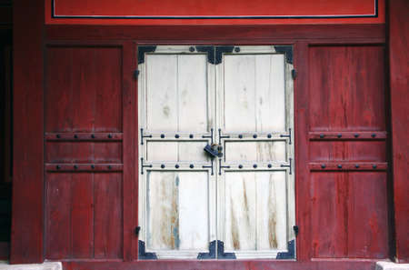 Ancient Korean door and lock