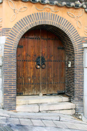 Arched Doorway with Ancient Styled