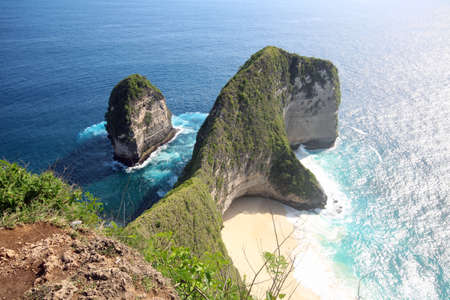 Karang Dewa - Kelingking secret point, Nusa Penida, Bali Indonesia Stock Photo