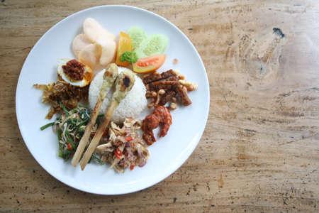Indonesian Food - Nasi Campur Bali