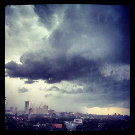 A storm rolling through Toronto