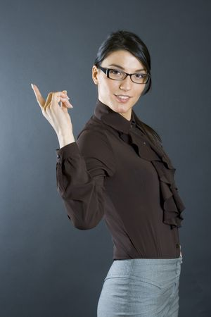 business woman pointing to you Stock Photo - 4141551