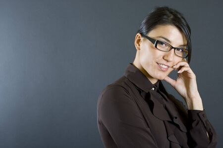 attractive business woman smiling Stock Photo - 4141546