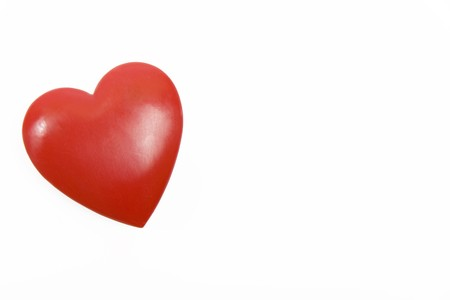 red heart on white background Stock Photo - 4152890
