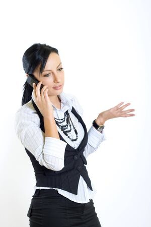 attractive businesswoman with mobile phone photo