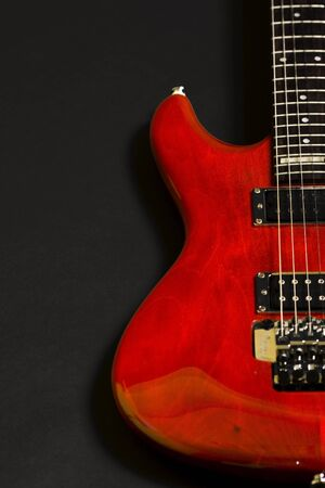 stratocaster: closeup of an electric guitar Stock Photo