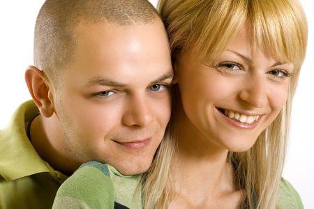 closeup of a couple smiling Stock Photo - 4942442
