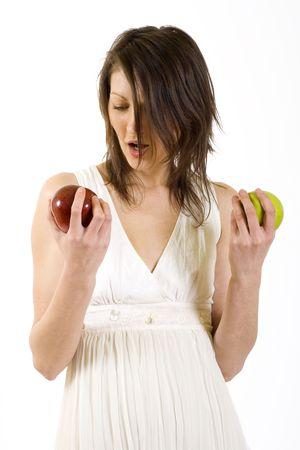 ind�cis: ind�cis femme prend une pomme