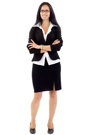 attractive businesswoman standing on a white background Stock Photo - 5241166