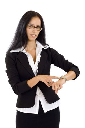 attractive businesswoman checking time  Stock Photo - 5241206