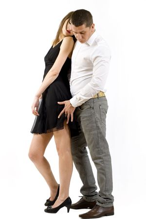 lovers on white background Stock Photo - 5274064