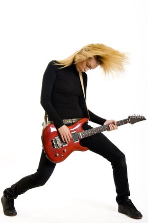 headbanging rock girl photo
