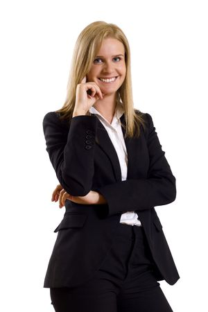 attractive businesswoman standing on a white background Stock Photo - 5321845