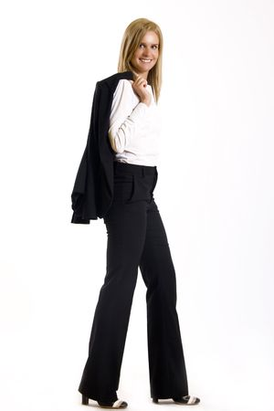 attractive businesswoman standing on a white background Stock Photo - 5321945