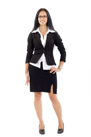 attractive businesswoman standing on a white background Stock Photo - 5544583