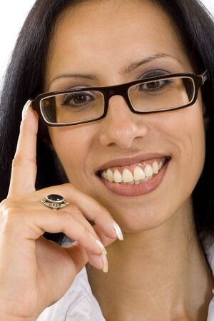 portrait of an attractive businesswoman with glasses Stock Photo - 5544549