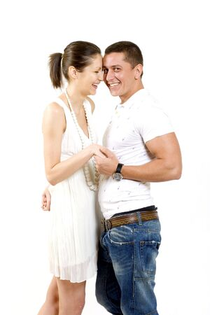 picture of a young couple laughing together Stock Photo - 5592380