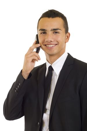 picture of a young Businessman  talking on Phone  photo