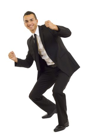 Portrait of young businessman shouting loudly with his arms widened Stock Photo - 5841938