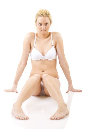 picture of healthy naked woman over white Stock Photo - 5941383