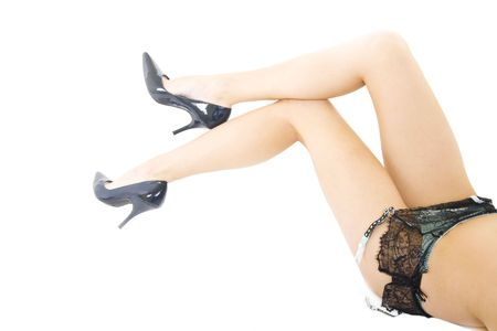 picture of sexy long legs over white back ground Stock Photo - 5941314