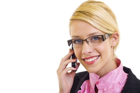 Business background: handsome businesswoman in a work process. Stock Photo - 6049092