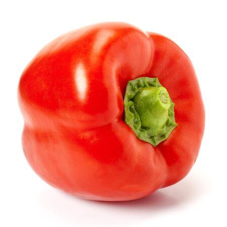 picture of an excellent red pepper on a white background  photo