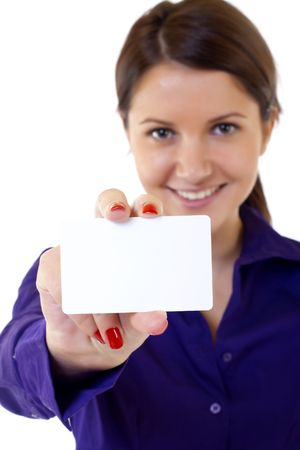 Close up picture of professional's white business card Stock Photo - 6344326