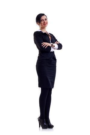 Business woman isolated on a white background Stock Photo - 6911942