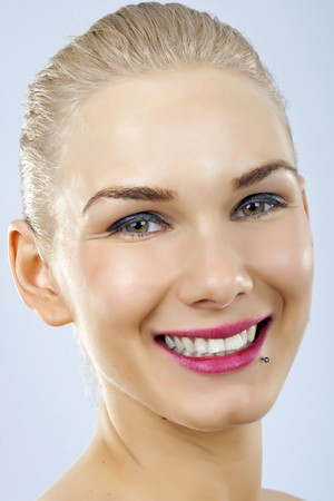 Close up of beautiful woman smiling face Stock Photo - 6970089